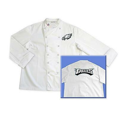 Philadelphia Eagles NFL Chef Chefs Jacket Coat Tailgate BBQ Kitchen Cooking Gift