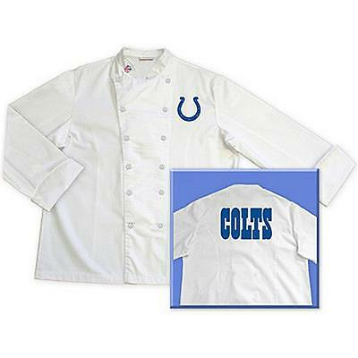 Indianapolis Colts NFL Chef Chefs Jacket Coat Tailgate BBQ Kitchen Cooking Gift