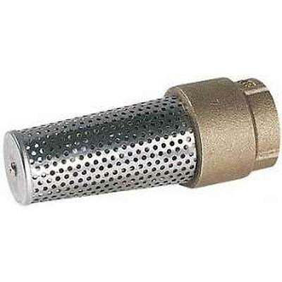 """Little Giant 1"""" Jet Pump Water Well Brass Foot Valve w/ Stainless Strainer FVB-1"""