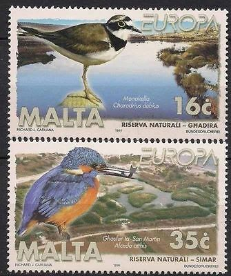 Malta 1999 Europa Nature Reserves Birds 2v set MNH