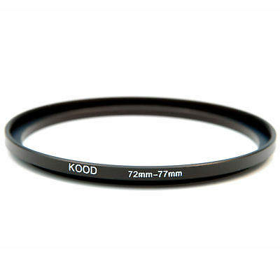 LENS ADAPTER STEPPING STEP UP RING 72mm to 77mm Filter By Kood - FREE UK P&P
