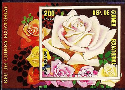 Equatorial Guinea 1979 Flowers Roses Plants Nature Horticulture Imperf m/s MNH