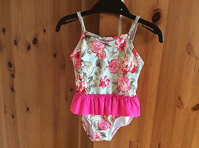 Nutmeg Baby Girls Swimsuit 12-18months Pink Flowers