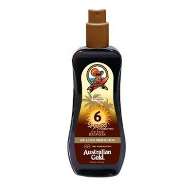 Australian Gold SPF6 LOW PROTECTION SPRAY GEL with Instant Bronzer 237ml/8Fl.Oz