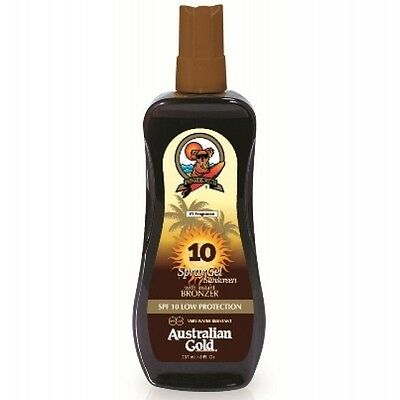 Australian Gold SPF 10 LOW PROTECTION SPRAY GEL with Instant Bronzer 237ml