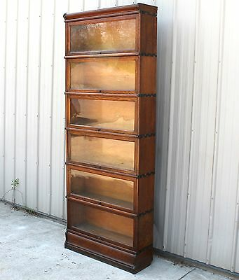 Wow!!! 7 Ft 4 Tall Globe Wernicke Type But Macey Oak Barrister Stacking Bookcase