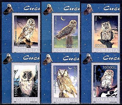 Romania 2003 Owls Raptors Night Birds Wildlife 6v set MNH/2 Gufi
