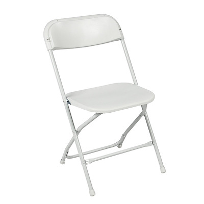 Best Choice Products (5) Commercial White Plastic Folding Chairs Stackable Weddi