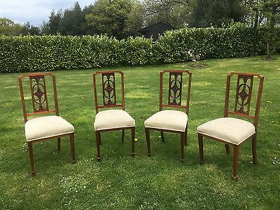 Set of 4 Antique Edwardian Dining chairs