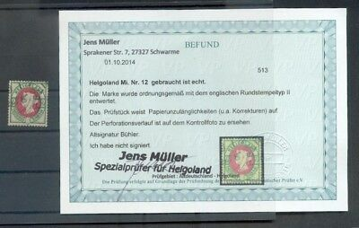 Helgoland 12 slight improved gest signed LOCATED (E3633