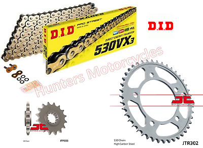 Honda CB900 Hornet DID Gold X-Ring Chain & JT Sprockets Kit Set