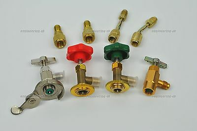 Refrigerant air con can tap valve fitting adapter R134a R22 R12 R410 R600a