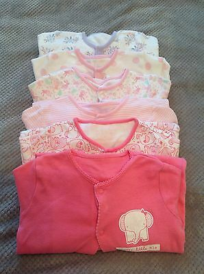 Bundle Of 6 Fab girls sleepsuits Age 18-24 Months