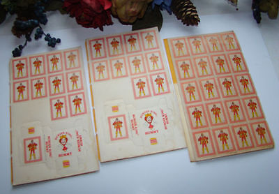 Vintage Lot Of 3 1978 Burger King Rummy Card Game Toy