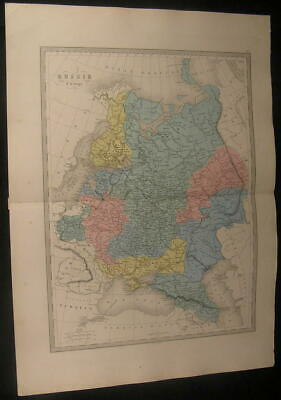 Russia in Europe Crimea Finland Ural Mountains c.1870 antique engraved color map