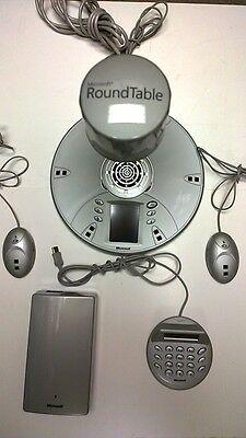 Microsoft RoundTable Bundle w/Dial Pad, (2) Microphones, Power Data Box - RTB001