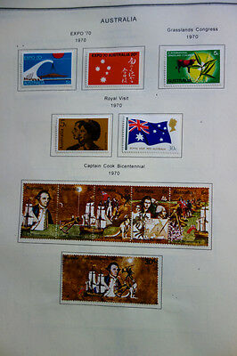 Australia Stamps S/S most mint & many Sets in Overloaded Album