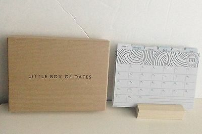 Farrow and Ball  Change -A-Month Desk Calendar and Base Complete Set-NIB!