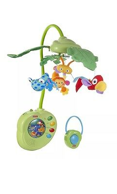 Brand New Fisher-Price Rainforest Peek-A-Boo Leaves Musical Mobile With Remote