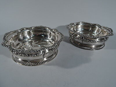 Tiffany Coasters - 6212 - Wine Bottle Pair - American Silver Plate Silverplate