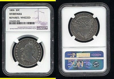 1806 Draped Bust Half Dollar- Ngc Xf Details- Repaired- Whizzed- Scarce