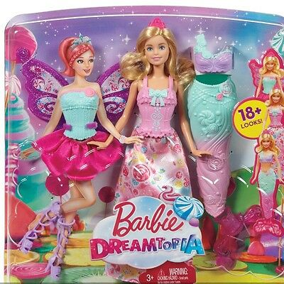 Barbie Dreamtopia Fairytale Dress Up Barbie Doll Multiple dress up combinations