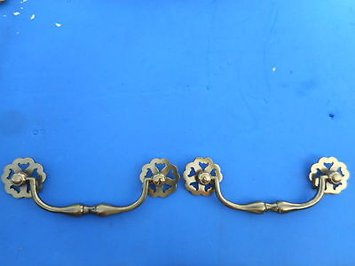 Pair of Nice Quality Solid Brass Furniture Drawer Pull Mid Century Modern Style