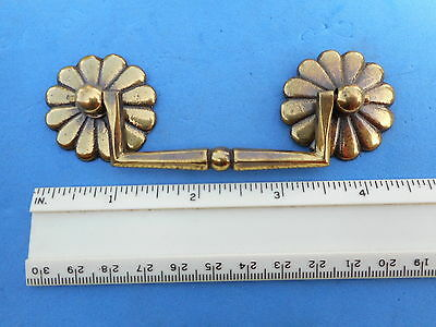 Solid Brass Furniture Pull Antique Vintage New Old Stock Very High Quality Pull
