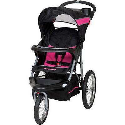 Baby Trend Expedition Jogger Foldable Stroller Travel System Bubble Gum