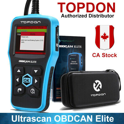 Topdon Ultrascan OBDCAN Elite Diagnostic Scanner Tool SRS ABS Better AL619 UPS