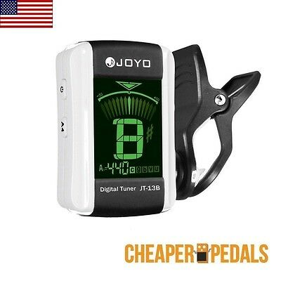 NEW JOYO JT-13B Chromatic Clip On Tuner For Guitar Bass Ukulele Violin FREE SHIP