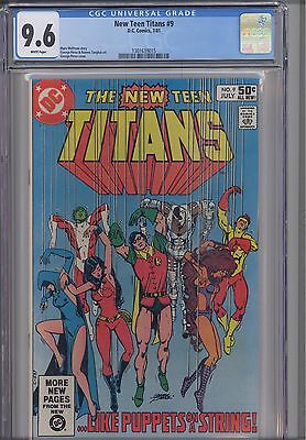 New Teen Titans #9  CGC 9.6  1981 DC Comic :Terminator Cover:  New Frame