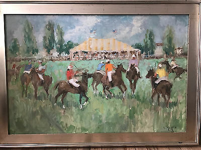 Large original ELEANOR MAURICE signed oil painting in impressionist style