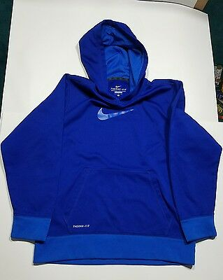 Boys Nike Therma-fit Hoodie EUC Size Large Blue