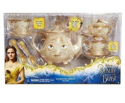 Disney Beauty And The Beast Live Action Tea Set Enchanted Objects Mrs Potts Chip