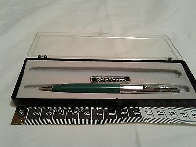 Vintage  Sheaffer Mechanical Pencil  with case Silver and green