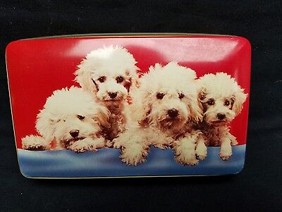 Vintage Thornes Premier Toffee Tin England with Dogs Poodles