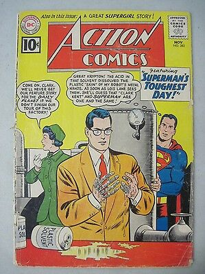 Action Comics #282 November 1961 Dc Comics Superman Also Supergirl Story