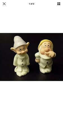 Lenox Sneezy and Dopey Salt and Pepper Shakers - Snow White and the Seven Dwarfs