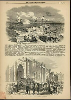 California Gold & Mexican Dollars Bank of England 1849 antique engraved print
