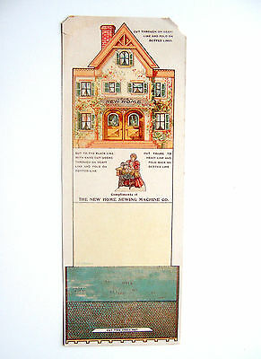 """Vintage Un-Cut Trade Card - New Home Sewing Machine Co.  """"our New Home"""""""