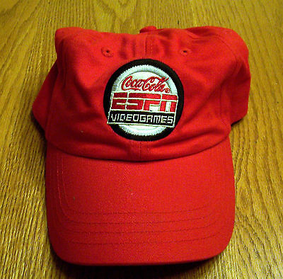 Coca-Cola Espn Videogames Red Cap One Size Fits Most Embroidered Tag-New No Tags