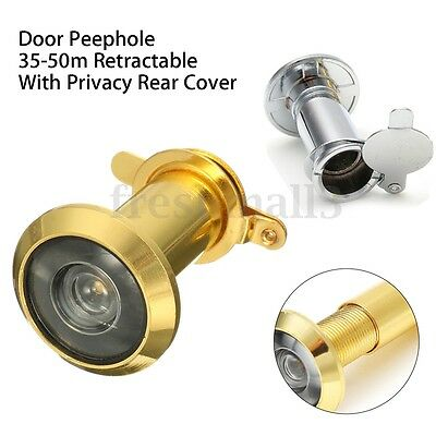 200° Hole 35-50mm Security Home Door Scope Viewer Peephole Spyhole With Cover