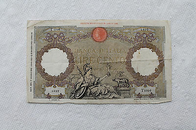 Italy Banknote, 100 Lire, from 1942