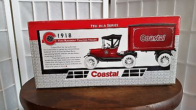Ertl Ford Runabout TractorTrailer NIB Bank 1918 Coastal 7th in Series 1:25 Scale