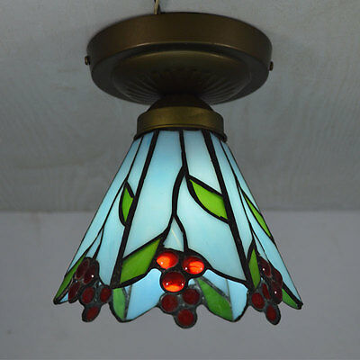Tiffany Ceiling Lamp Stained Glass Kitchen Fixture Loft Hall Stair Pendant Light