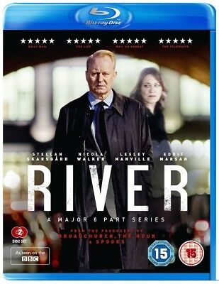 RIVER (BBC 2015 ABC 2017) COMPLETE Police Drama TV Season Series RgB BLU-RAY