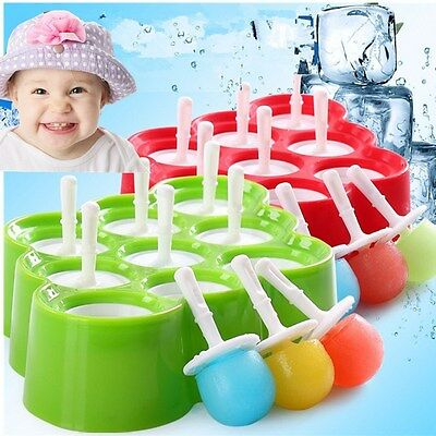 Baby Ice Cream Maker Silicone Popsicle Mold Tray Ice Pop Mold Frozen Lolly Mould