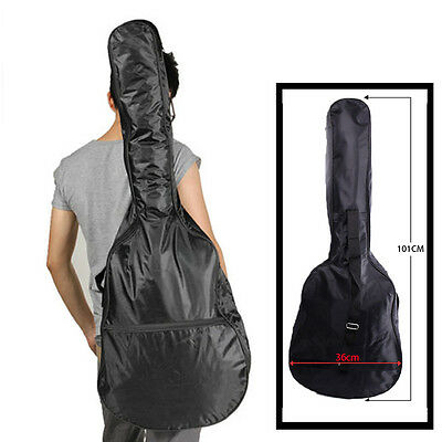 BLACK 3/4 Size Acoustic Classical Guitar Carrying Carry Case Bag Holder Sleeve