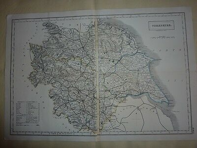 Antique Map of Yorkshire by Sidney Hall 1831